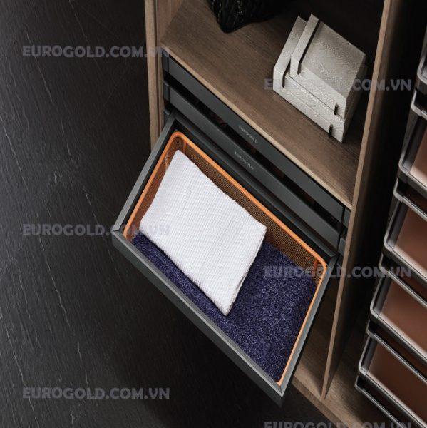 giỏ để đồ gấp ray giảm chấn giá mây Eurogold;