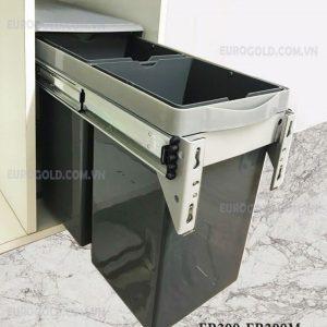 thùng rác đôi âm tủ giảm chấn eurogold