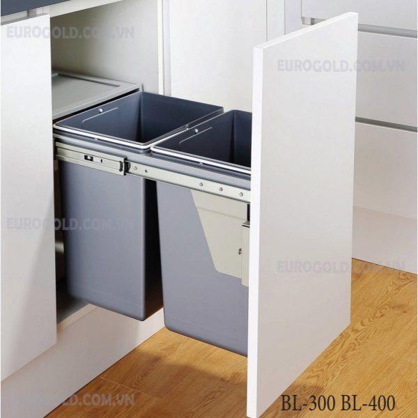 thùng rác gắn cánh âm tủ eurogold